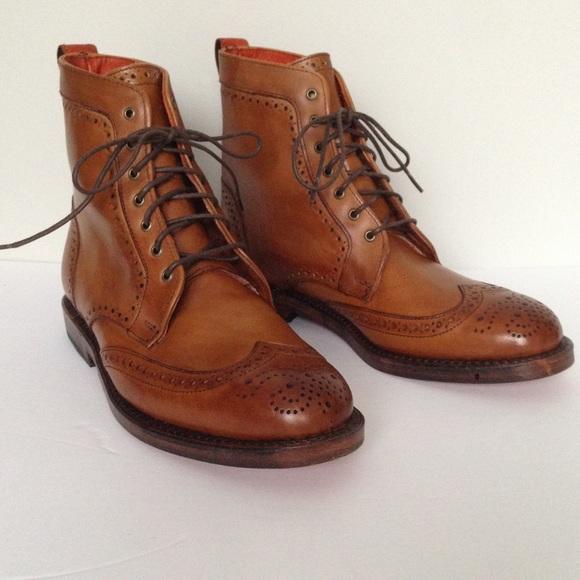 4c9b0098994 Allen Edmonds Dalton Boots 7.5 Wingtip Walnut Men